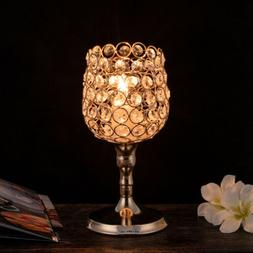New Luxury Round LED Crystal Table Lamp Diamond Cup Holder D