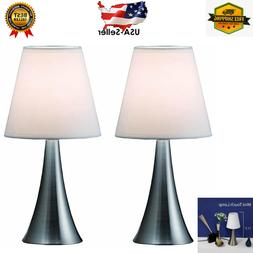 NEW Modern Stand Table Lamps 2 Set Lamps Touch Sensor Bedroo