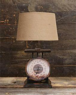 New Primitive Country Antique Style VINTAGE SCALE LAMP Elect