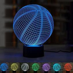 LED Night Light 3D Illusion Bedside Table Lamp 7 Colors Chan