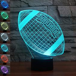 Echodream LED Night 3D Illusion Bedside Table Lamp 7 Colors
