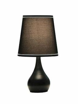 OK Lighting OK-816BK 15 in. H Contempo Mini 3-Way Touch Lamp