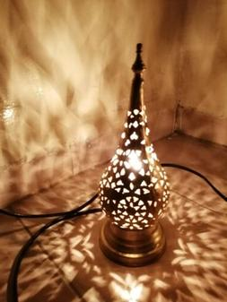 pack of 2 moroccan night lights table