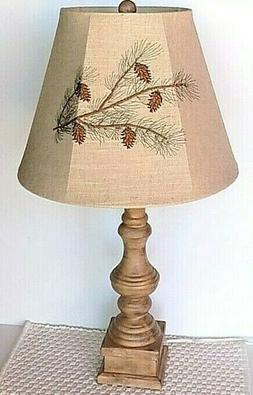 """AHS Lighting Pinecone Embroidered 28"""" Table Lamp  ~~NEW~~"""