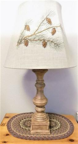 """AHS Lighting Pinecone Embroidered Table Lamp  ~~28"""" Tall~~"""
