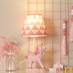 Pink Unicorn Style Table Lamp Modern Kids Girls Desk Lamp Ho