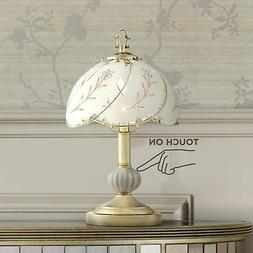 "Polished Brass Small-Size 15"" High Touch Accent Table Lamp"