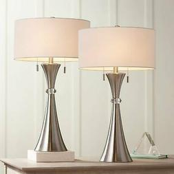 Rachel Concave Column Metal Table Lamp Set of 2