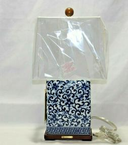 Ralph Lauren Small Porcelain Table Lamp & Shade Blue & White