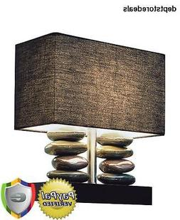 Elegant Designs Rectangular Dual Stacked Stone Ceramic Table