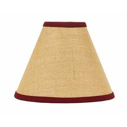 """Home Collection by Raghu Red Burlap Stripe Lampshade, 6"""""""