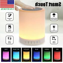 RGB Touch Sensor lamp Bedside Lamp with Bluetooth Speaker Ta