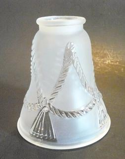 Rope W/Tassel Satin Clear Flared/Bell Ceiling Fan or Lamp Sh
