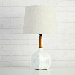 "Urban Shop Rubber Wood Table Lamp, 20.47"" x 9.84"" x 4.72"", W"