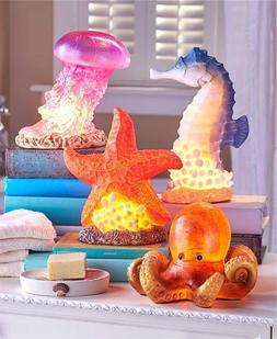 SEALIFE SEA CREATURE ACCENT TABLE LAMP NIGHT LIGHT 7W BULB B