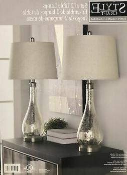 Stylecraft - Set of Two Table Lamps Mercury Glass Lamp New w