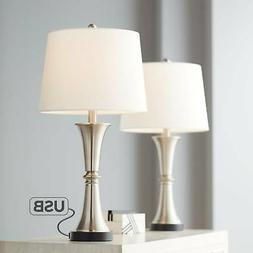 Seymore Metal Led Touch Table Lamp With Usb Port Set Of 2