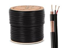 Nordstrand 500ft Siamese Coaxial RG59 Cable Wire for CCTV Se