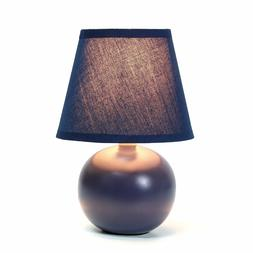 Simple Designs LT2008-BLK Mini Ceramic Globe Table Lamp, Bla