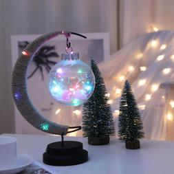 Simple LED Moon Round Ball Table Light Creative Bedside Nigh