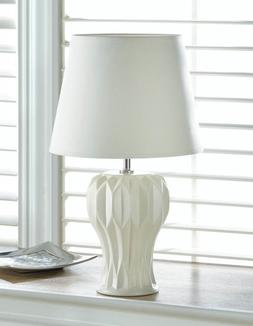 Small MODERN ABSTRACT Curved Table Lamp White Ceramic Indoor