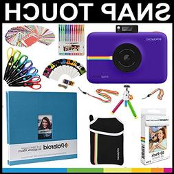 Polaroid Snap Touch Instant Camera Gift Bundle + ZINK Paper