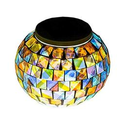 Color Changing Solar Powered Glass Ball Garden Lights, Aukor