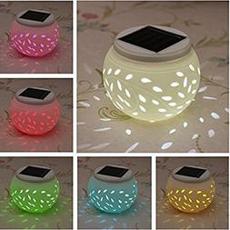 Color Changing Solar Patio Lights, Solar Lantern, Waterproof