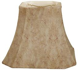 Royal Designs Square Cut Corner Bell Basic Lamp Shade, Faux