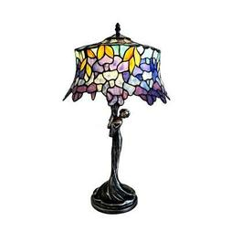 Stained Glass 1 Light Wisteria Table Lamp Chloe Lighting CH1