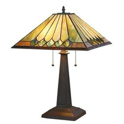 Stained Glass Chloe Lighting Mission 2 Light Table Lamp 16""