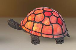 Handmade Stained Glass Turtle Tortoise Tiffany Table Desk He