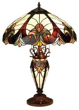 Stained Glass Chloe Lighting Victorian 3 Light Double Lit Ta