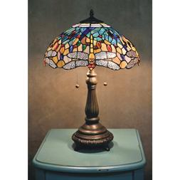 Tiffany Style Table Lamp Stained Glass Vintage Nightstand De