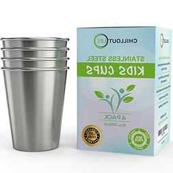 Stainless Steel Cups for Kids and Toddlers 8 oz - Stainless