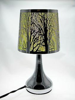 "Stainless Steel Table Touch Lamp, Tree 12.6""  Silver Color S"