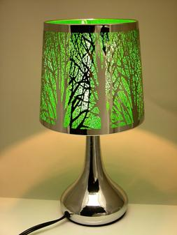 """Stainless Steel Table Touch Lamp, Tree 12.6""""  Silver color S"""