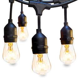 48 FT Outdoor String Lights Commercial Great Weatherproof St
