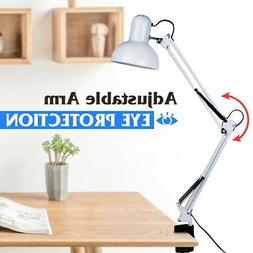 Swing Arm Desk Lamp Flexible Clamp Mount Table Light Reading