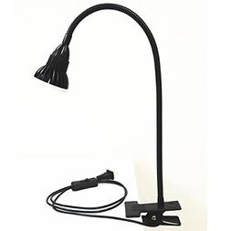 Table Goose neck LED Lamp Clamp Flexible Clip Desk Bright Ad