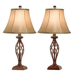 Table Lamp Set of 2 for Bedroom or Living Room, 27.5 in. Hig