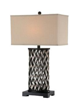 Table Lamp in Aged Silver