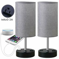 Focondot Table Lamp, Bedside Nightstand Lamps with Dual USB