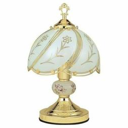 Table Lamp Floral Gold Touch Sensor 14.25 in. Lamps Stained