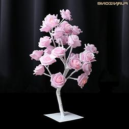 Furnizone Table Lamp Rose Tree Lamp with AC Adapter Flexible