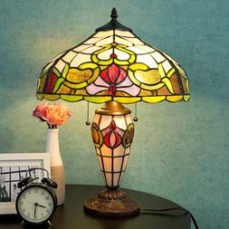Tiffany Style Table Lamp Victorian Desk Lamp Stained Glass H