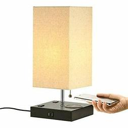Table Lamp with Wireless Charger and 2 USB Charging Ports an