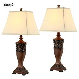 "Table Lamps for Living Room or Bedroom, Lamp Set of 2, 30"" H"