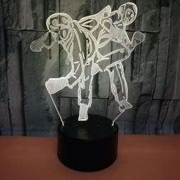 Taekwondo 3d Night Led <font><b>Lamp</b></font> 7 color Touc