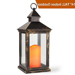 "BRIGHT ZEAL 14"" TALL Vintage Decorative Lantern with LED Pil"